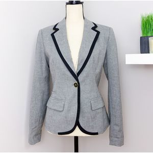 Merona Gray Wool Blend Fitted Blazer Sz 10